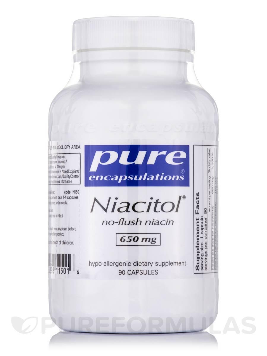 Niacitol® (no-flush niacin) 650 mg - 90 Capsules