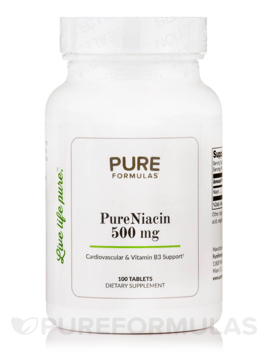 PureNiacin 500 mg - 100 Tablets