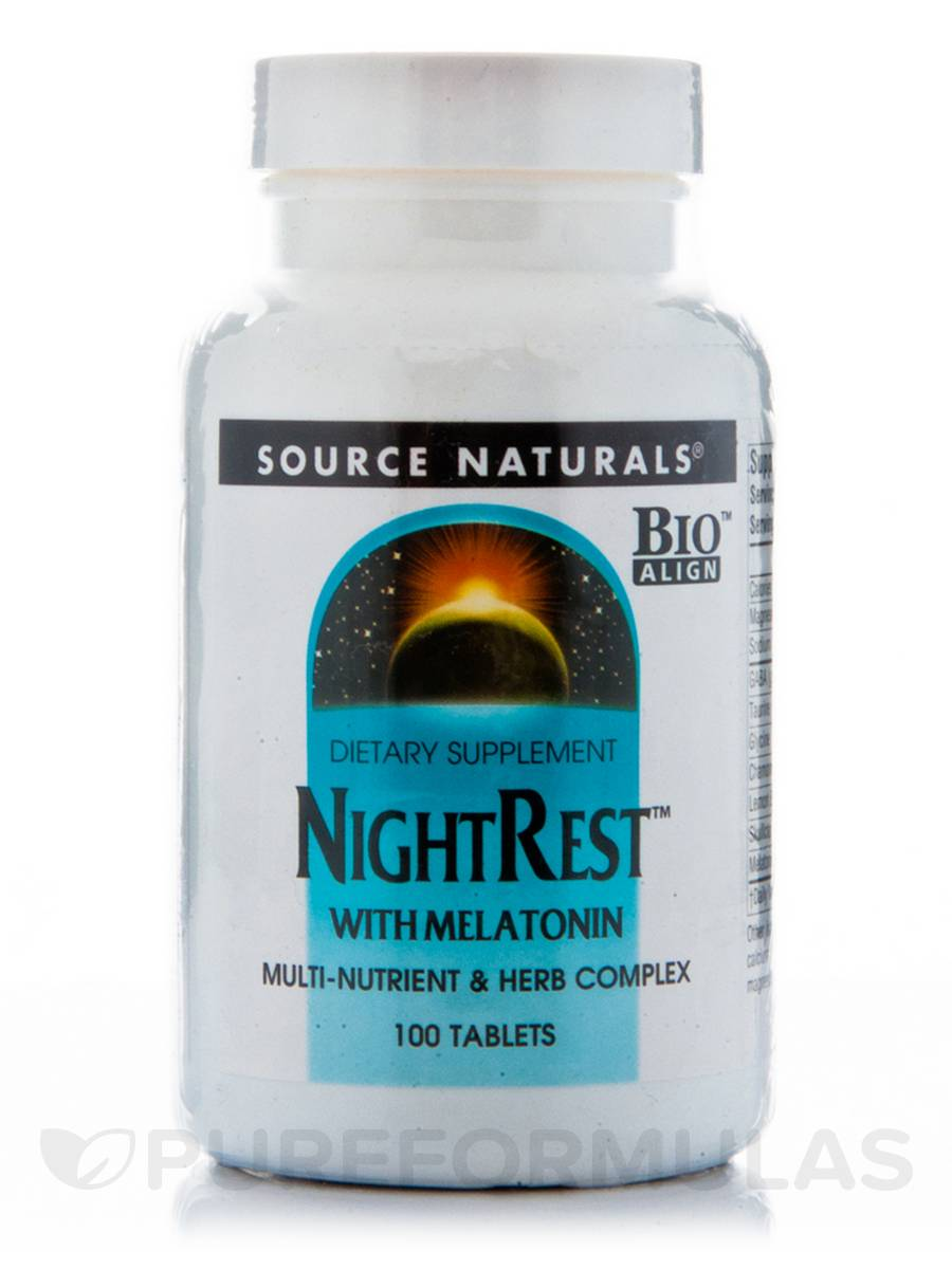 Night Rest with Melatonin - 100 Tablets