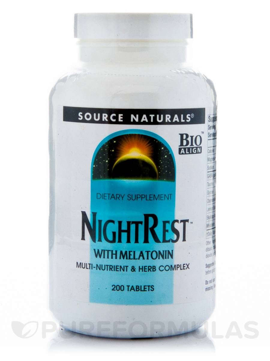 Night Rest with Melatonin - 200 Tablets