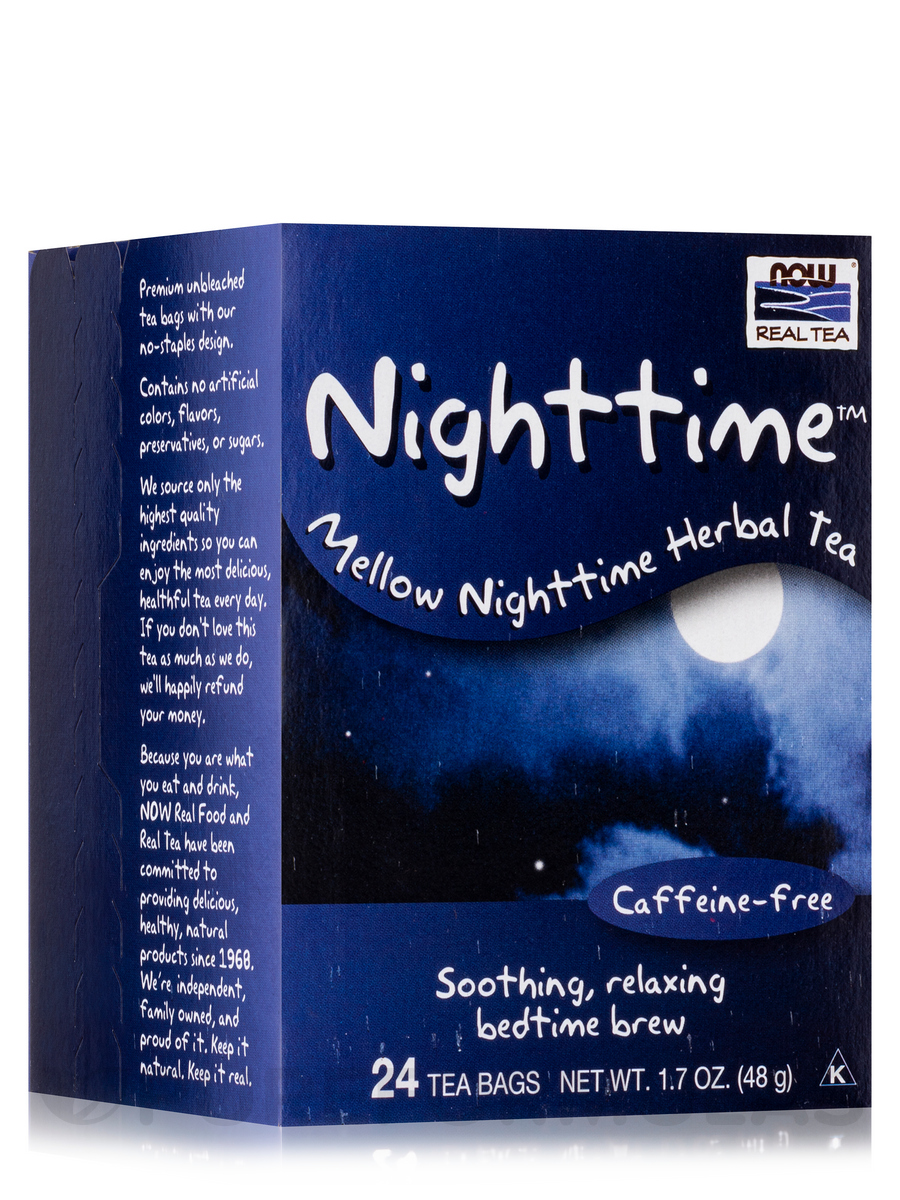 NOW® Real Tea - Nighttime Tea Bags - Box of 24 Packets