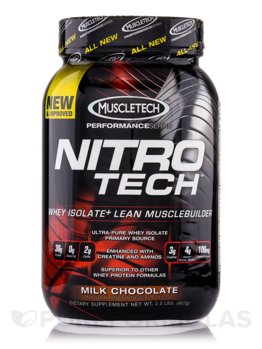 Nitro-Tech Performance Series Milk Chocolate - 2.0 lbs (907 Grams)
