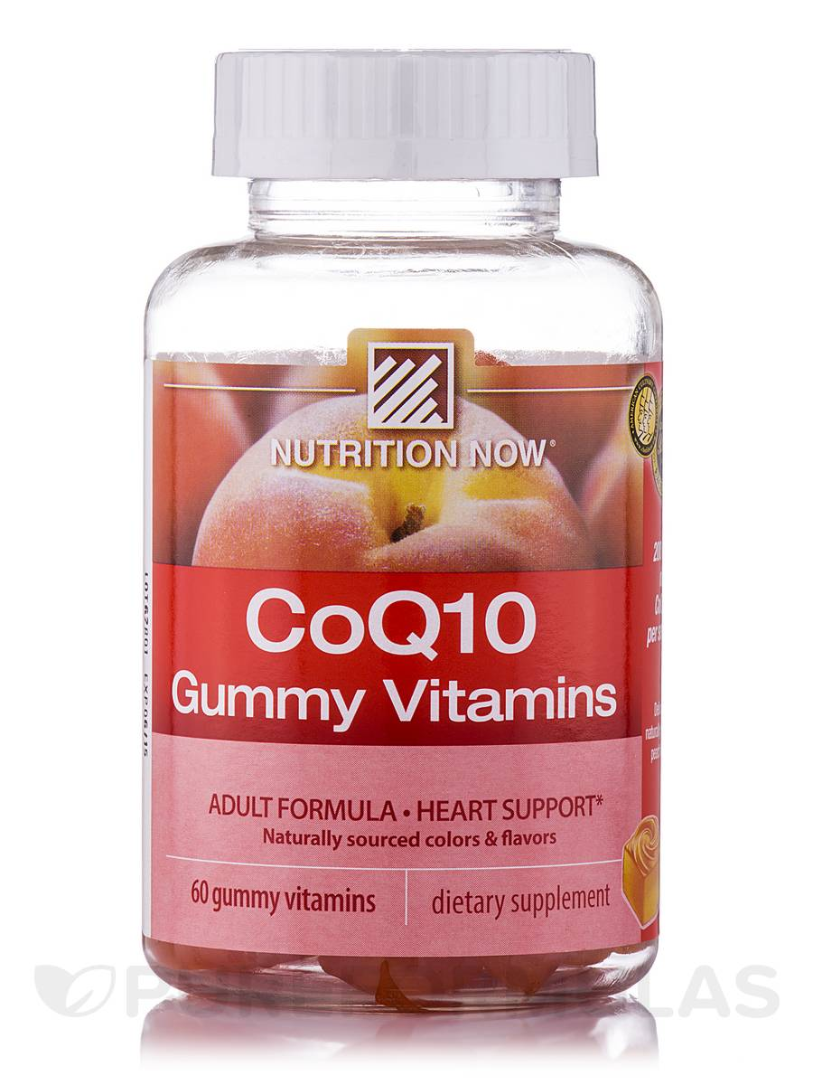 CoQ10 Gummy Vitamins (Peach Flavor) - 60 Gummies