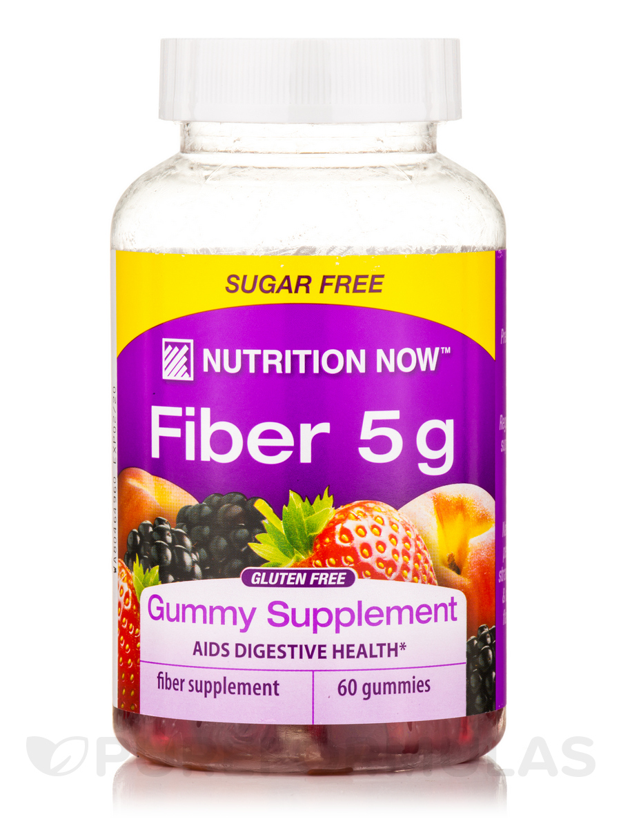 Fiber 5 g, Assorted Flavors - 60 Gummies