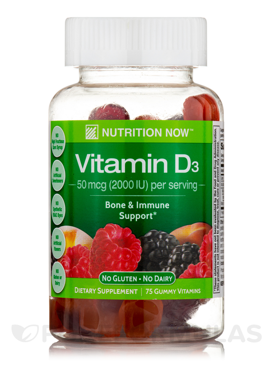 Vitamin D Gummy Vitamins (Assorted Flavors) - 75 Gummies
