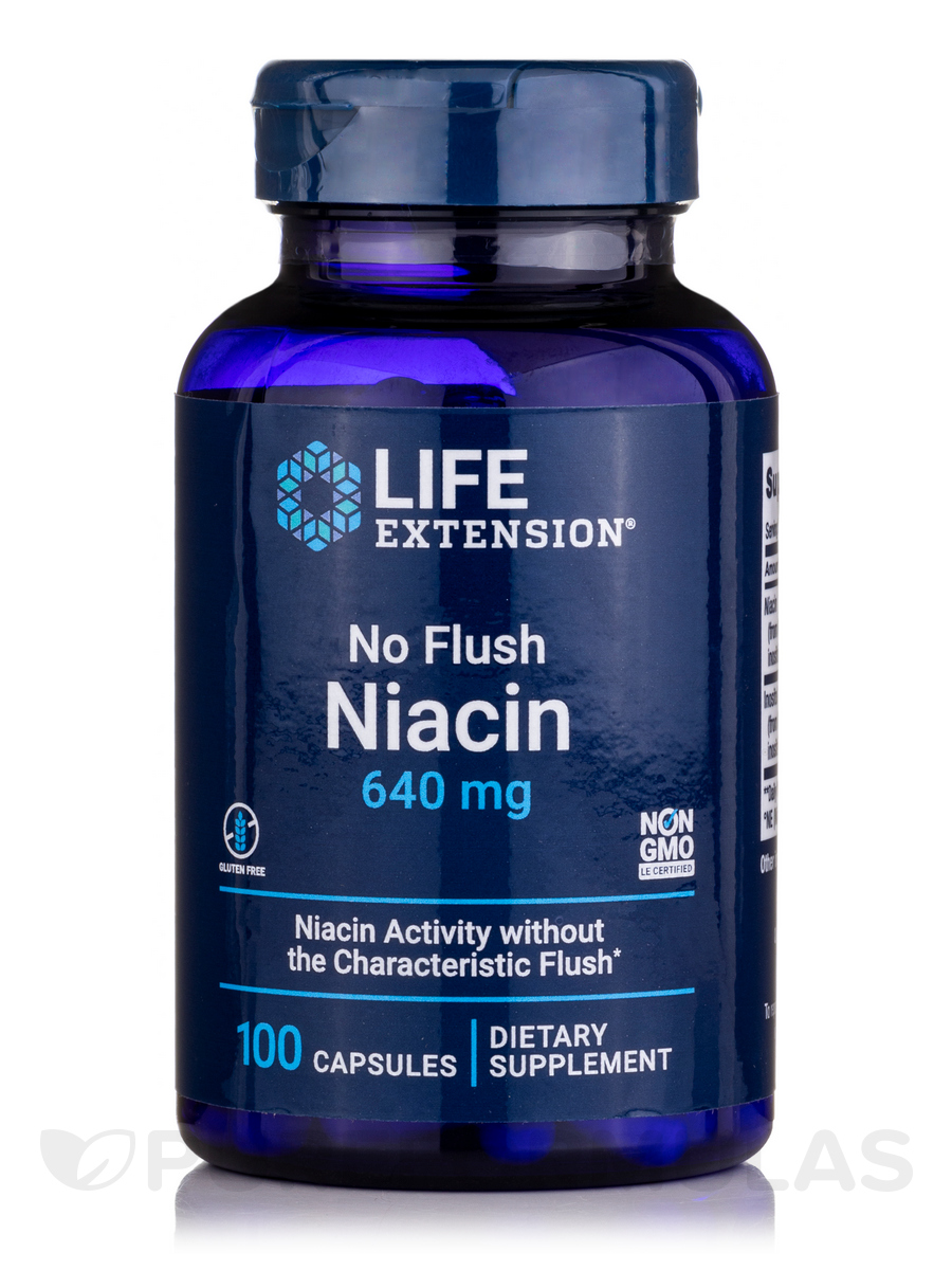 No Flush Niacin (Inositol Hexanicotinate) 800 mg - 100 Capsules