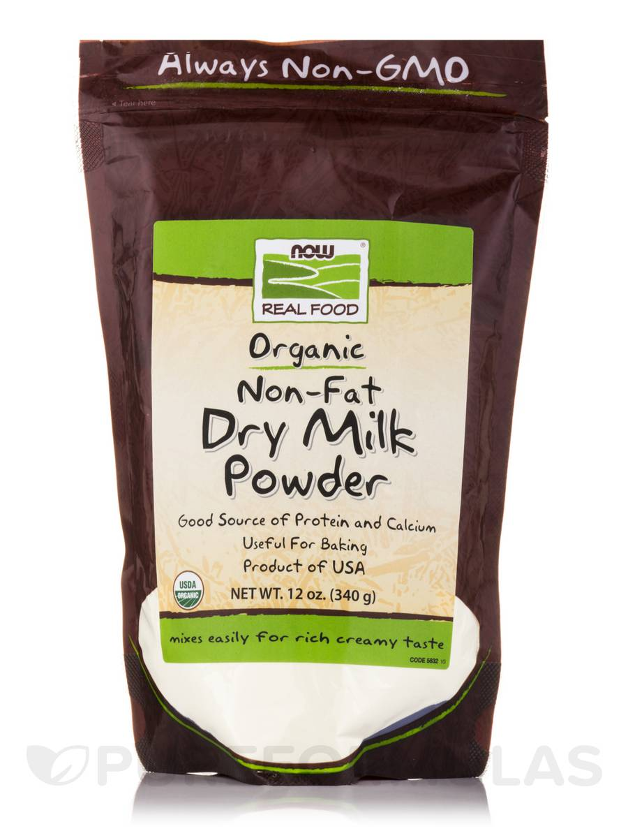 NOW® Real Food - Non-Fat Dry Milk Powder - 12 oz (340 Grams)
