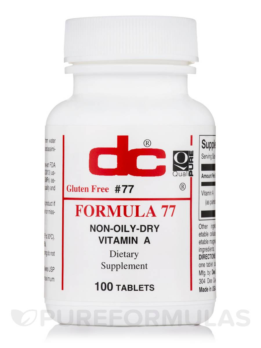 Non-Oily Dry Vitamin A - 100 Tablets