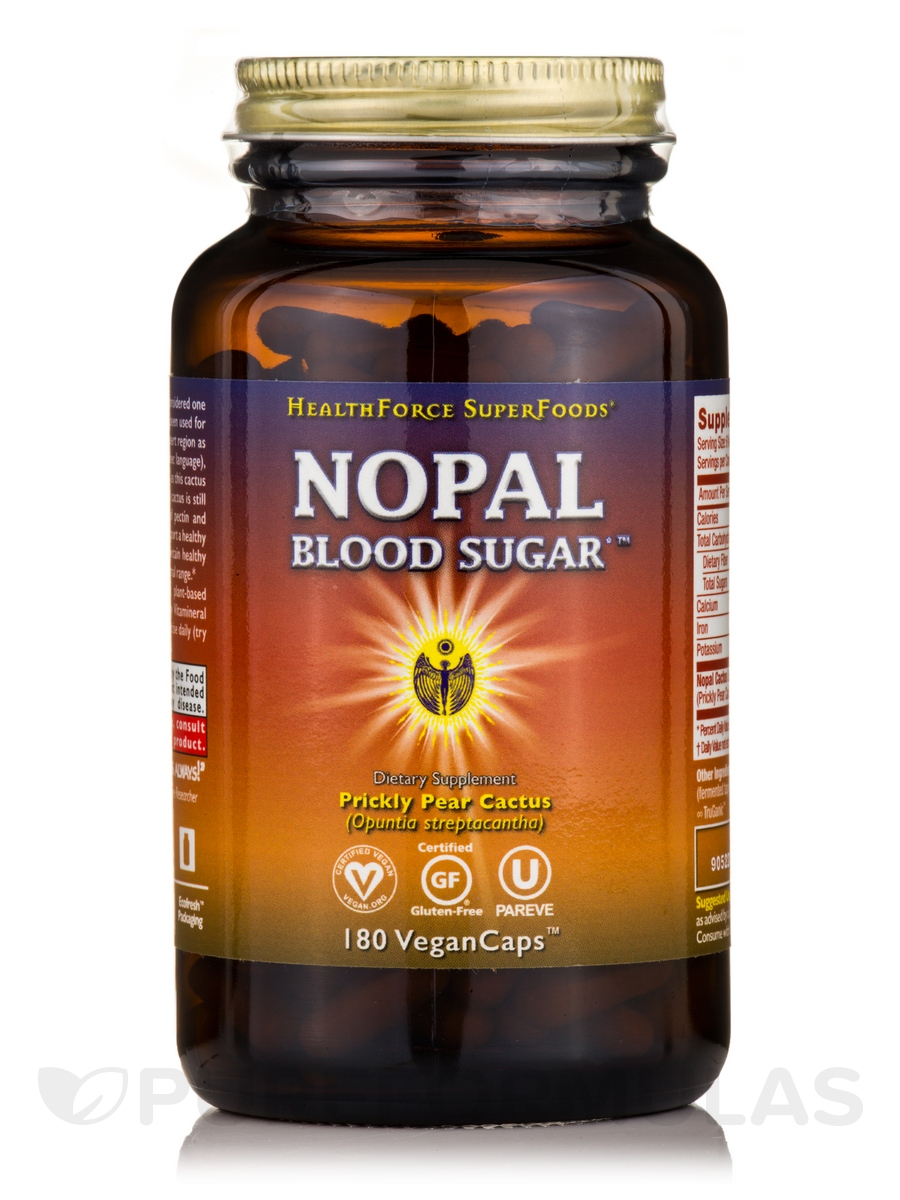 Nopal Blood Sugar - 180 Vegan Capsules