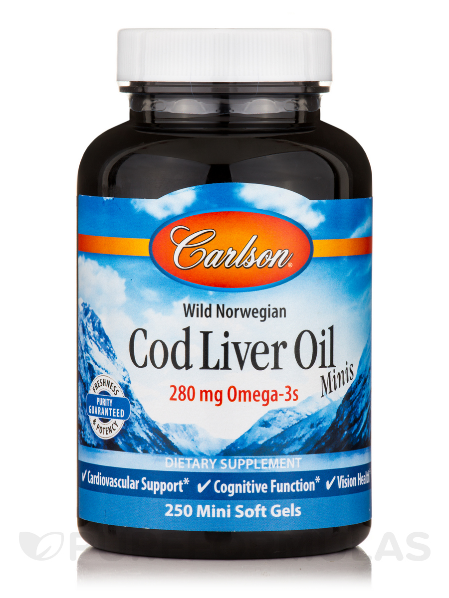 Cod Liver Oil Minis 250 mg - 250 Mini Soft Gels