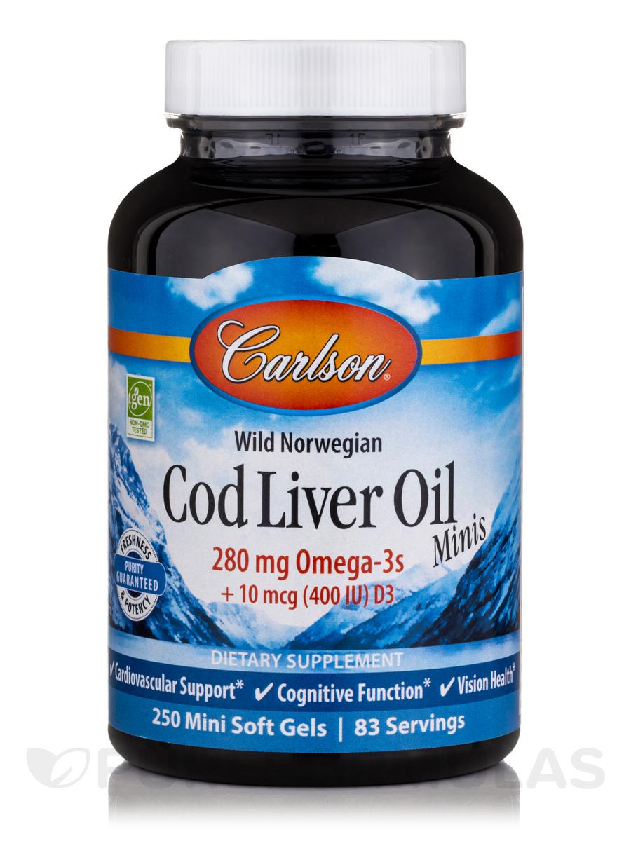 Norwegian Cod Liver Oil - 250 Soft Gels