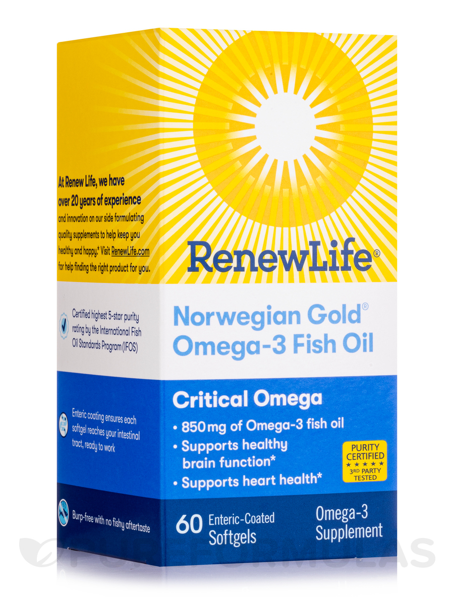 Norwegian Gold Critical Omega - 60 Fish Gels
