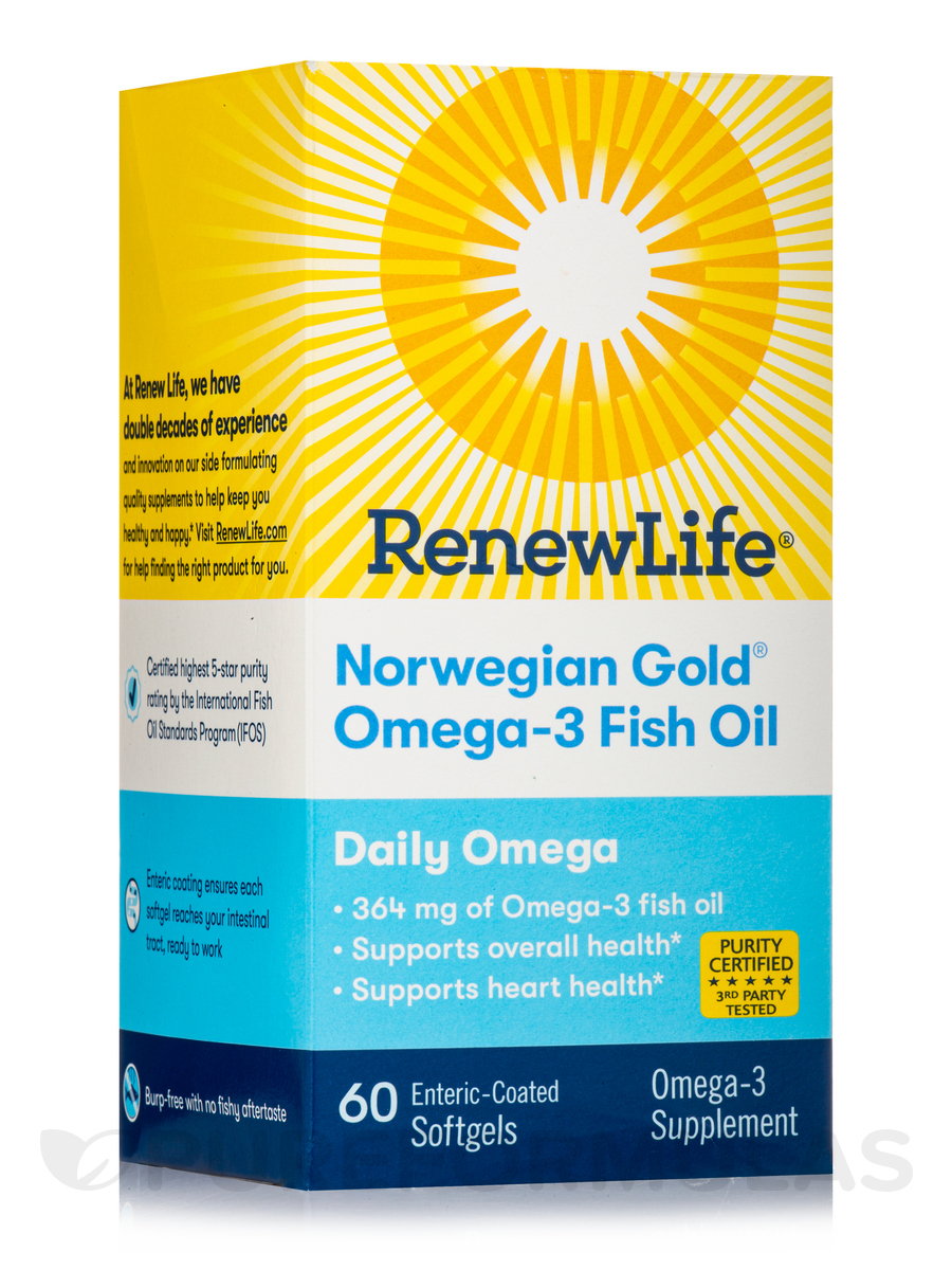 Norwegian Gold® Daily Omega, Natural Orange Flavor - 60 Enteric Coated Softgels