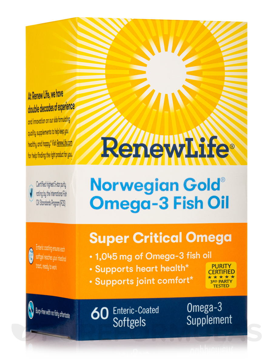 Norwegian Gold Super Critical Omega - 60 Softgels