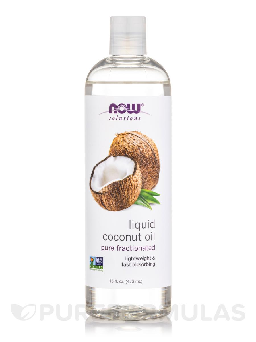 NOW® Solutions - Liquid Coconut Oil - 16 fl. oz (473 ml)