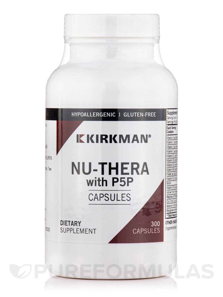 Nu-Thera with 50 mg P-5-P -Hypoallergenic - 300 Capsules