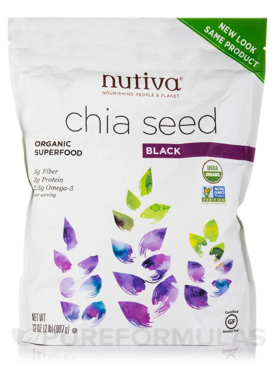 Organic Black Chia Seed - 32 oz (907 Grams)