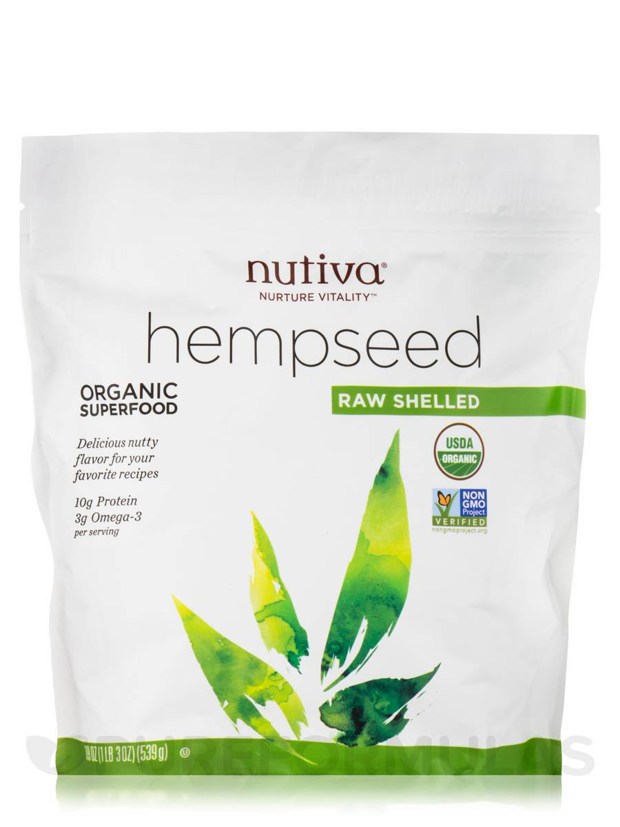 Organic Raw Shelled Hempseed - 19 oz (539 Grams)