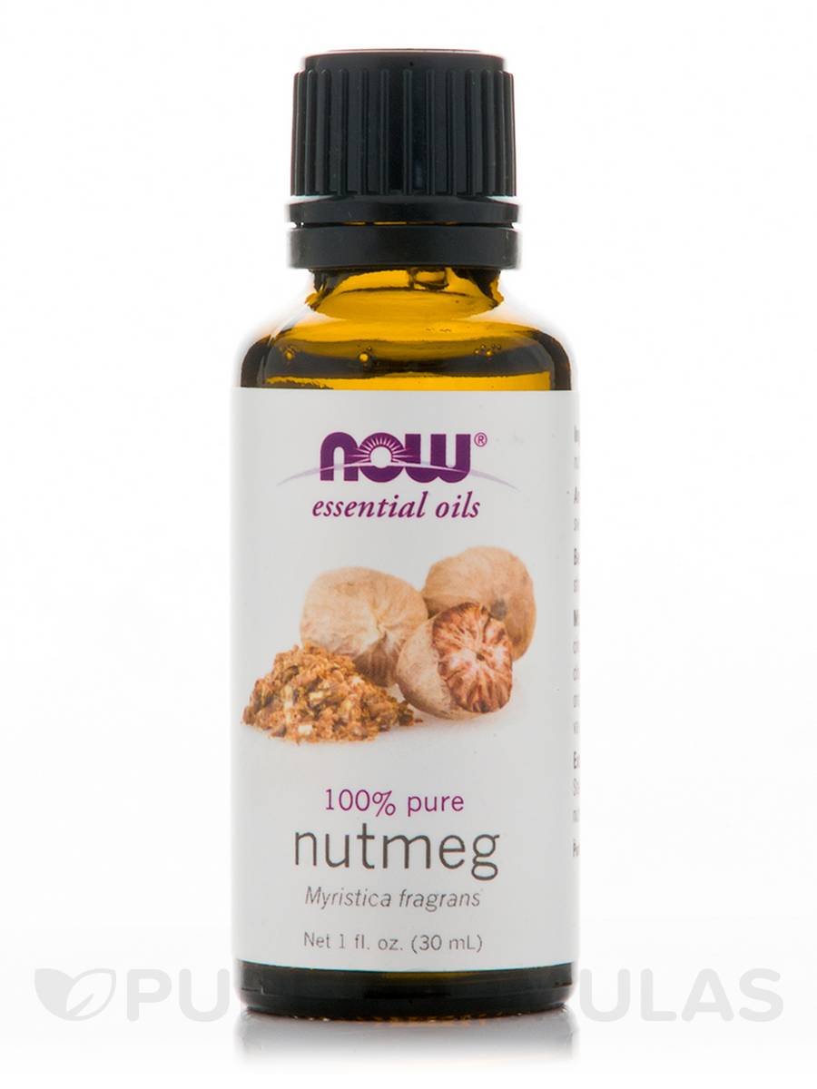 NOW® Essential Oils - Nutmeg Oil (100% Pure) - 1 fl. oz (30 ml)
