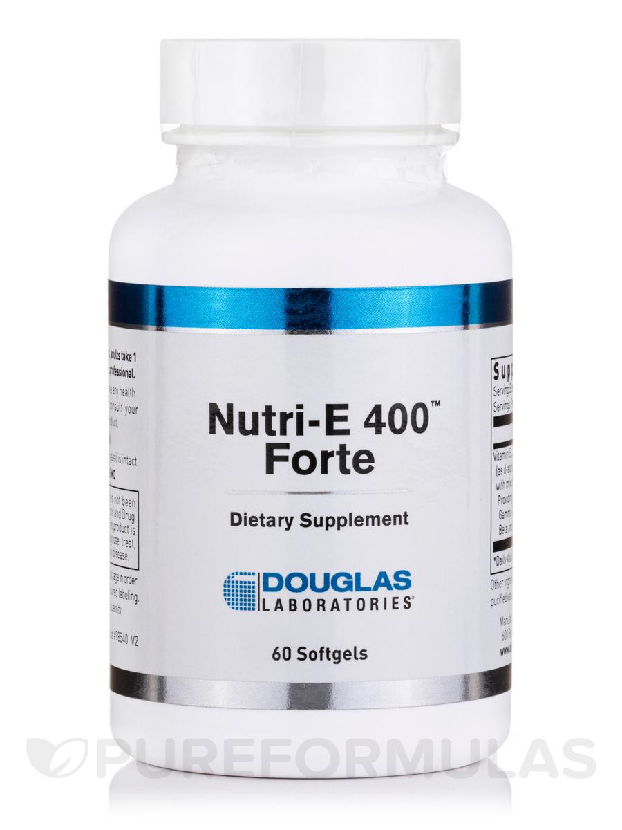 Nutri-E 400 Forte - 60 Softgel Capsules