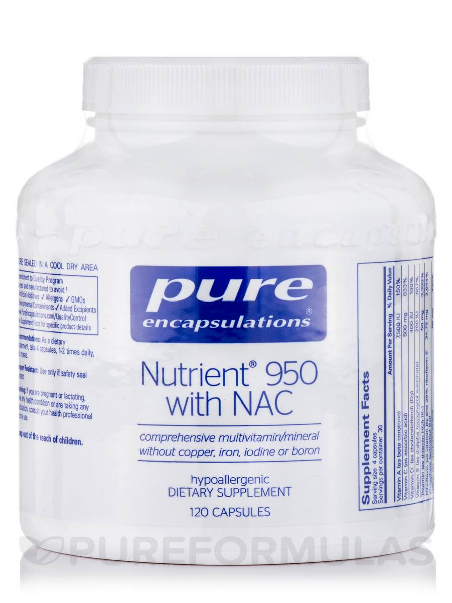 Nutrient 950 with NAC - 120 Capsules