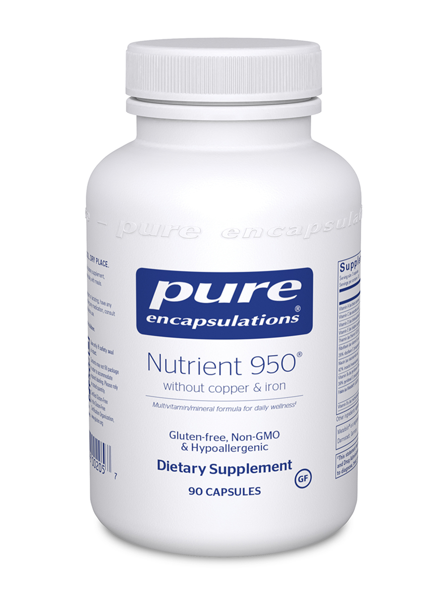 Nutrient 950 w/o Copper and Iron - 90 Capsules