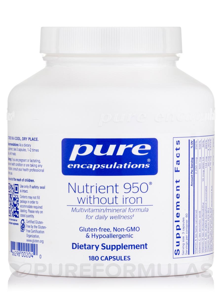 Nutrient 950® w/o Iron - 180 Capsules