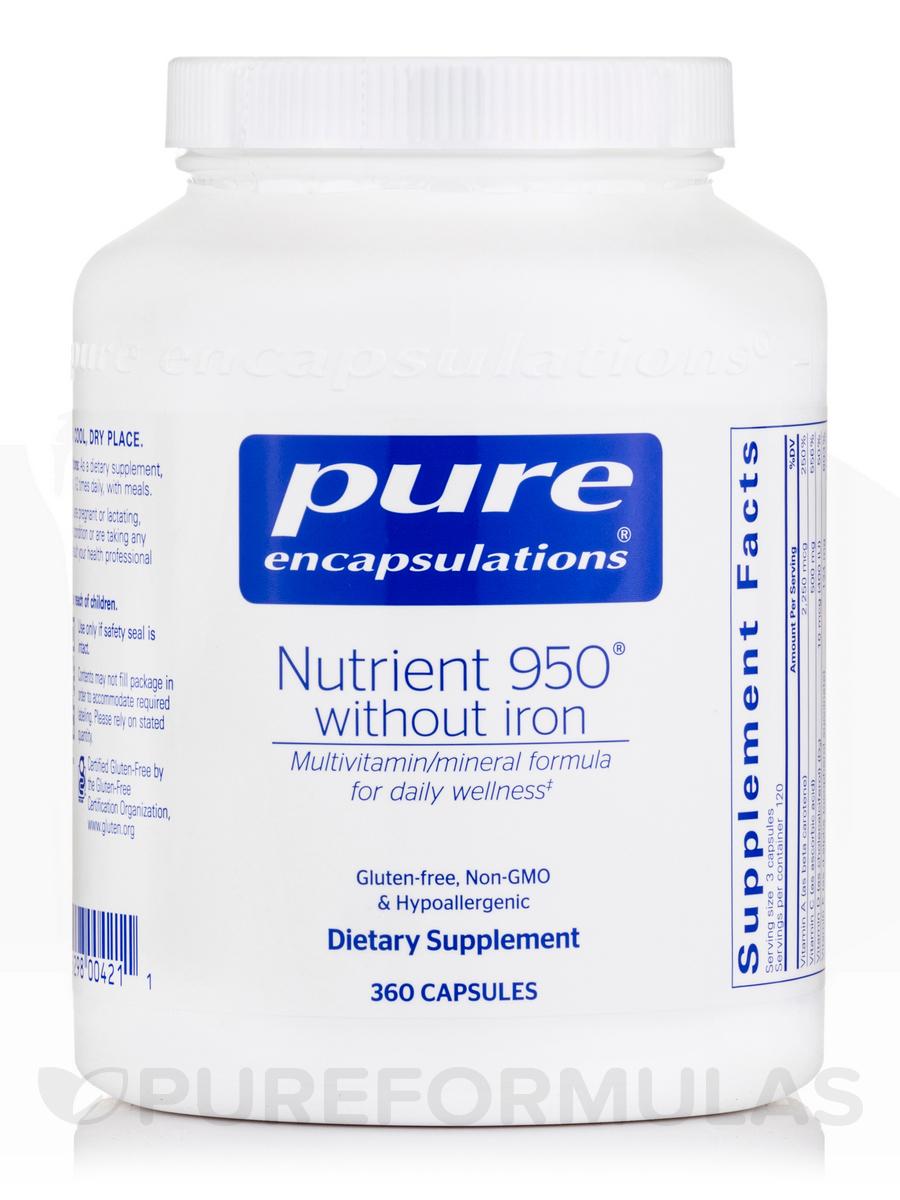 Nutrient 950® w/o Iron - 360 Capsules