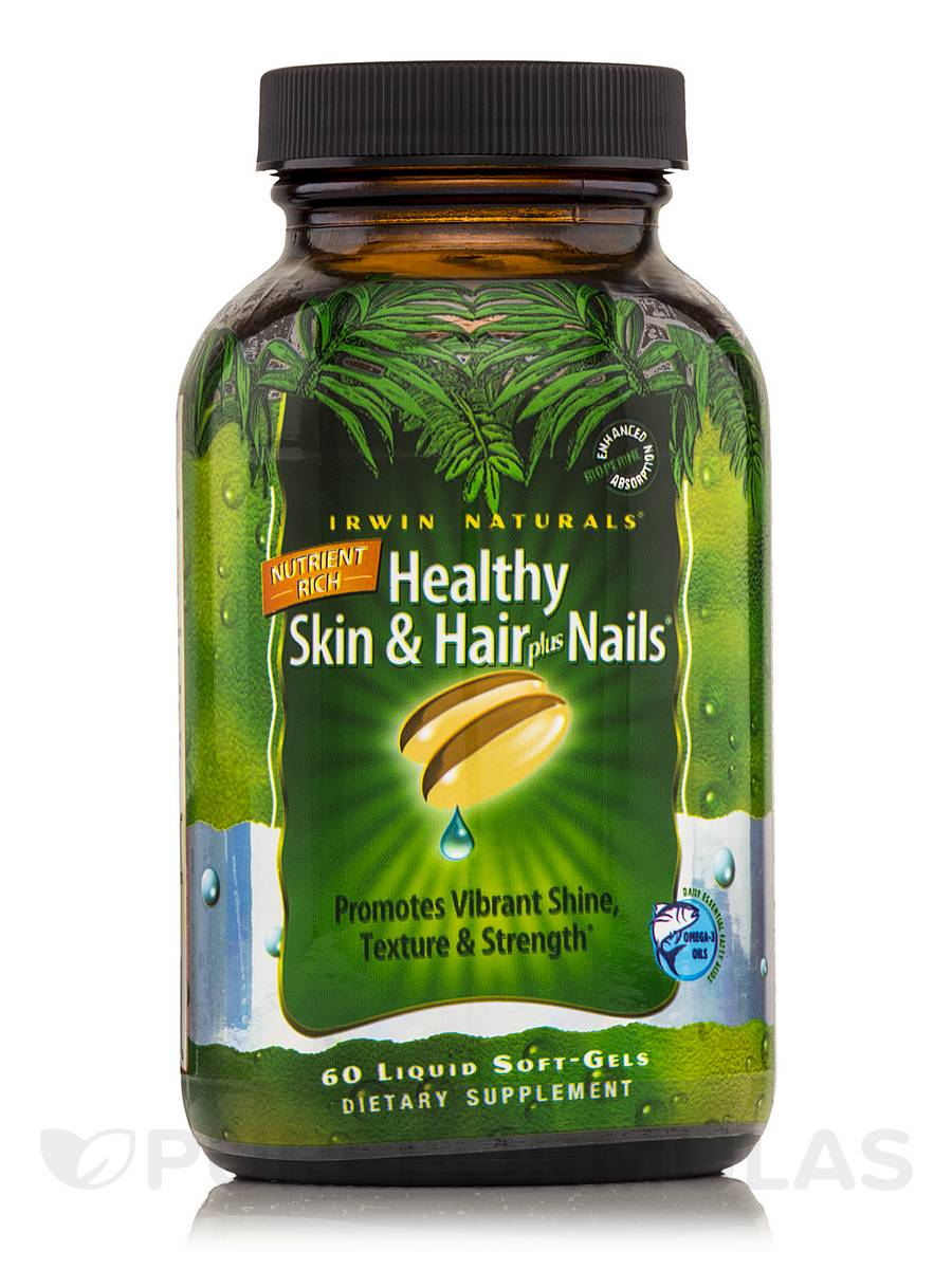 Nutrient-Rich Healthy Skin & Hair plus Nails - 60 Liquid Soft-Gels