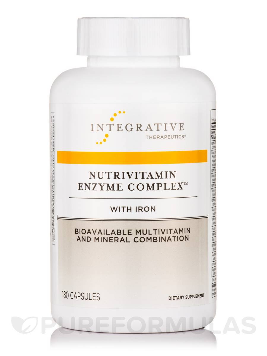 NutriVitamin Enzyme Complex with Iron - 180 Capsules