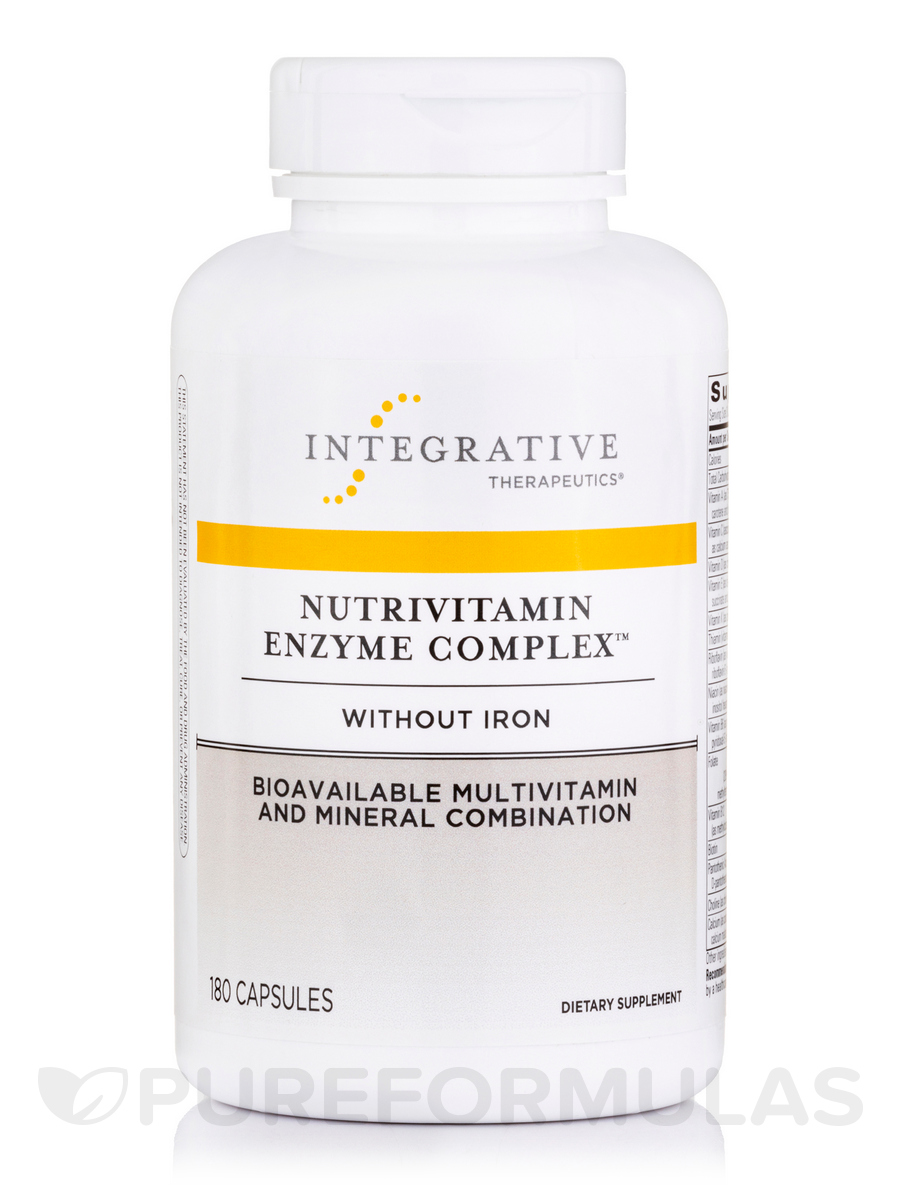 NutriVitamin Enzyme Complex w/o Iron - 180 Capsules