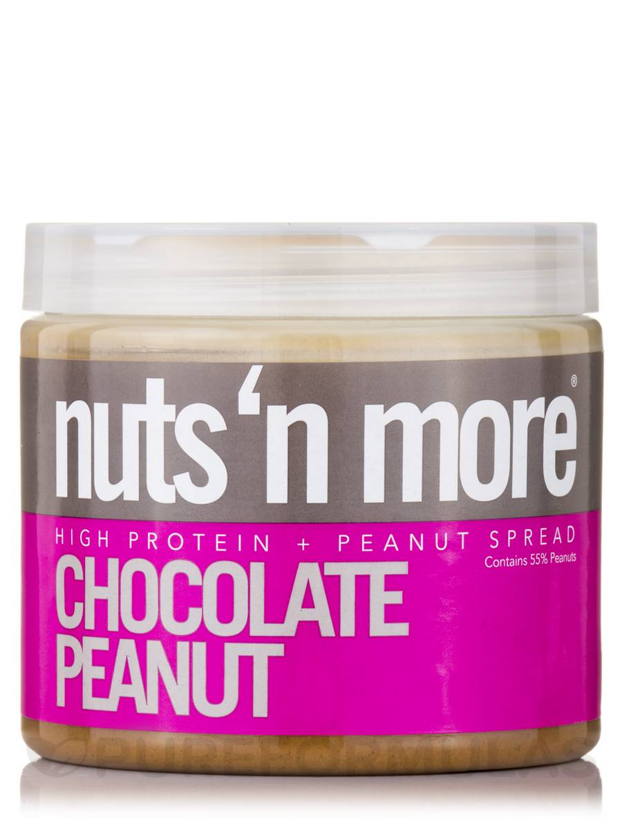 Nuts 'N More Chocolate Peanut High Protein Spread - 16 oz (454 Grams)