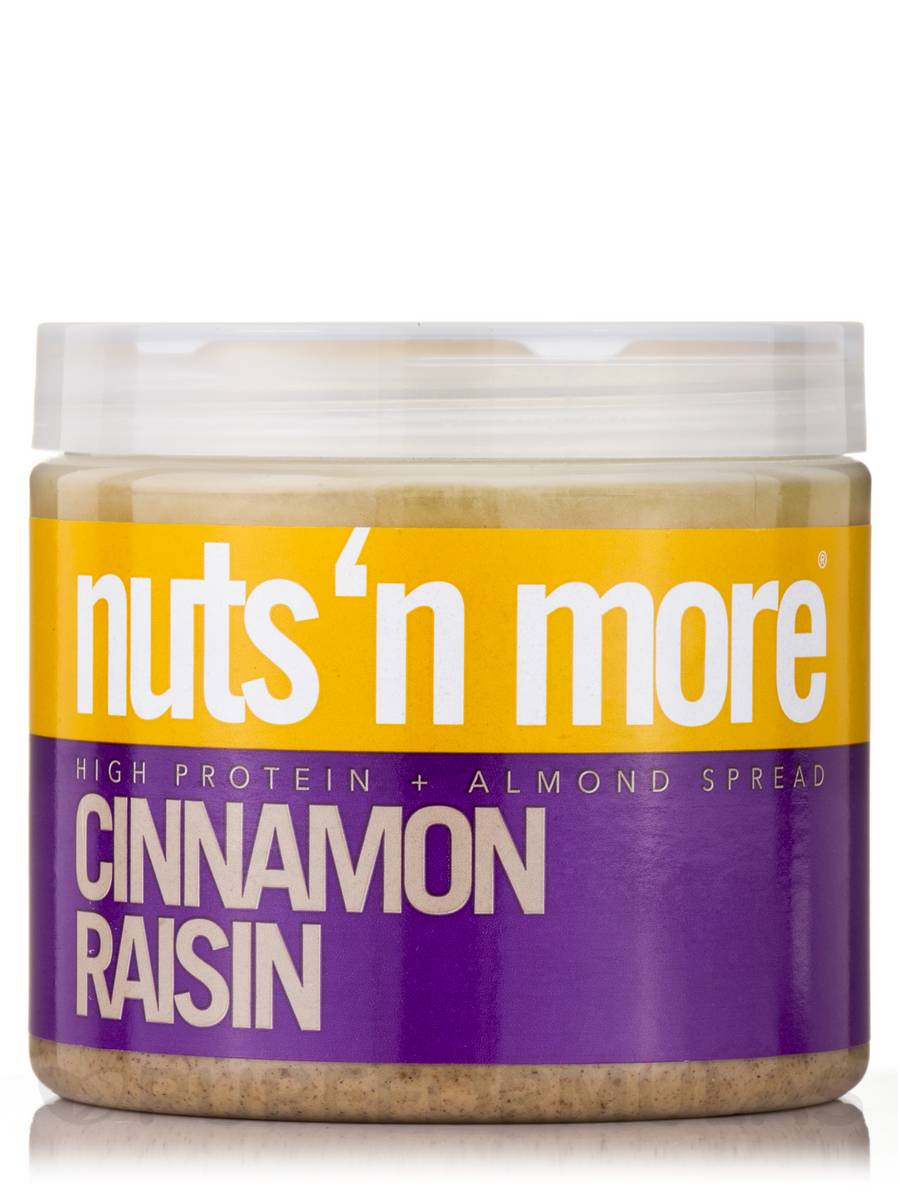 Nuts 'N More Cinnamon Raisin Almond Butter High Protein Spread - 16 oz (454 Grams)