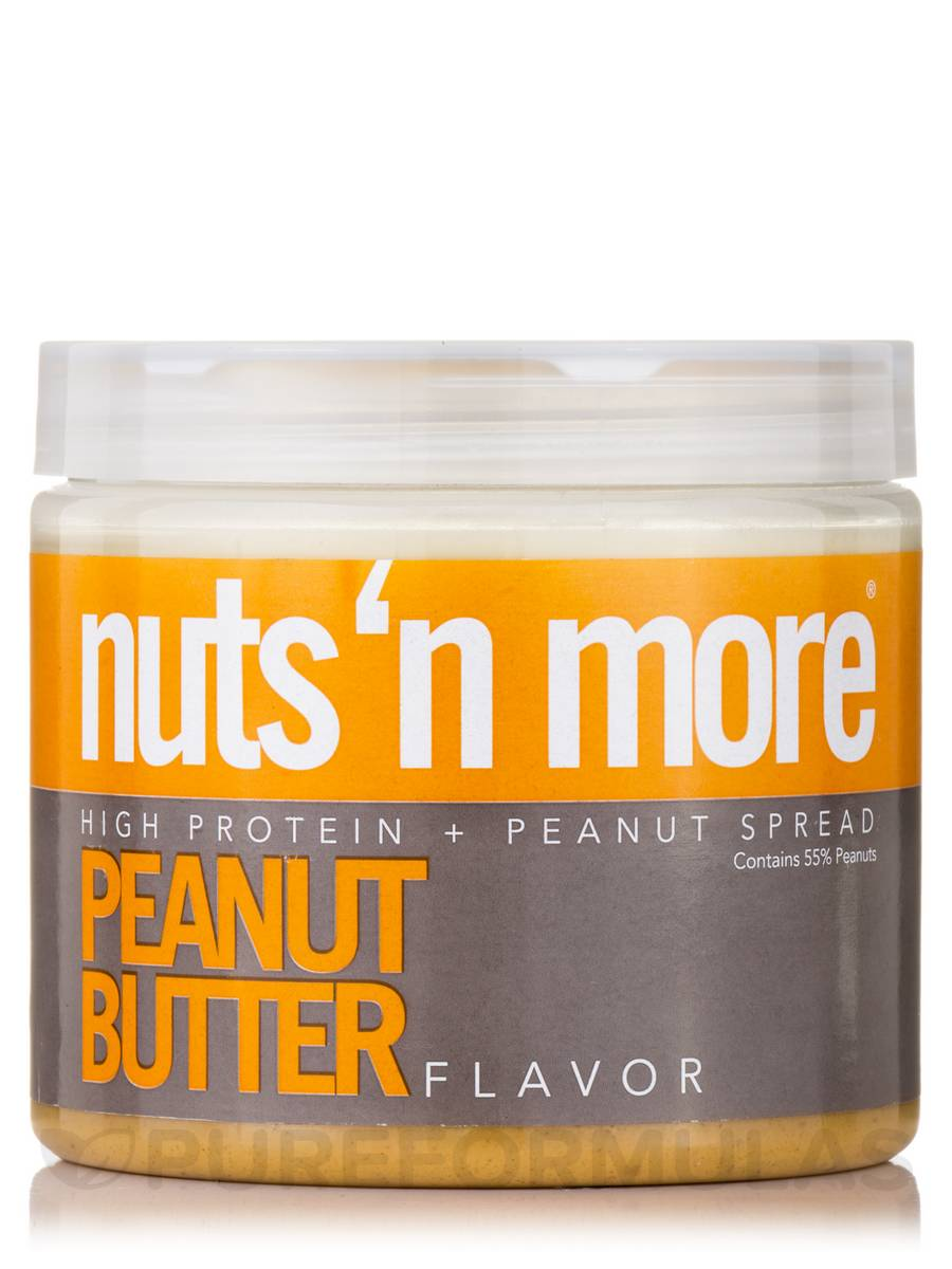 Nuts 'N More Peanut Butter High Protein Spread - 16 oz (454 Grams)
