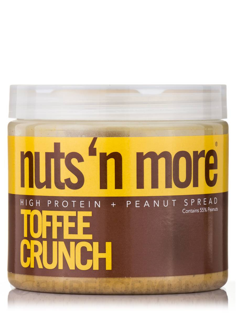 Nuts 'N More Toffee Crunch High Protein Peanut Spread - 16 oz (454 Grams)
