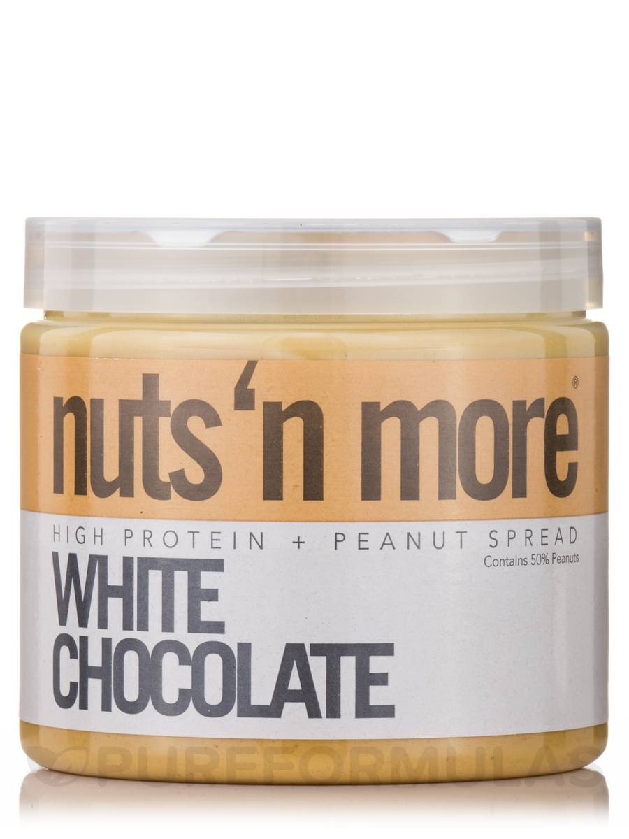 Nuts 'N More White Chocolate High Protein Peanut Spread - 16 oz (454 Grams)