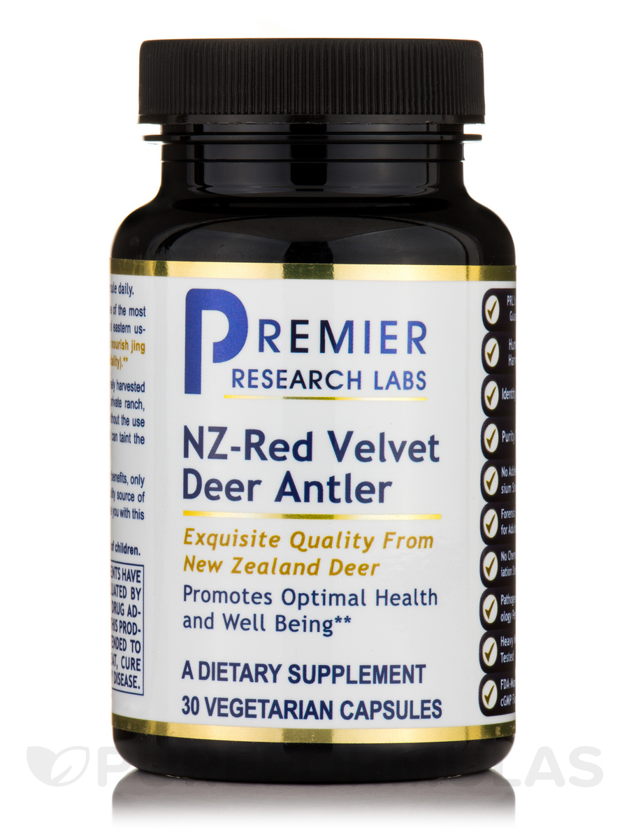 NZ - Red Velvet Deer Antler - 30 Capsules