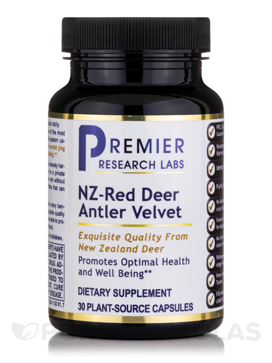 NZ - Red Velvet Deer Antler - 30 Vegetarian Capsules