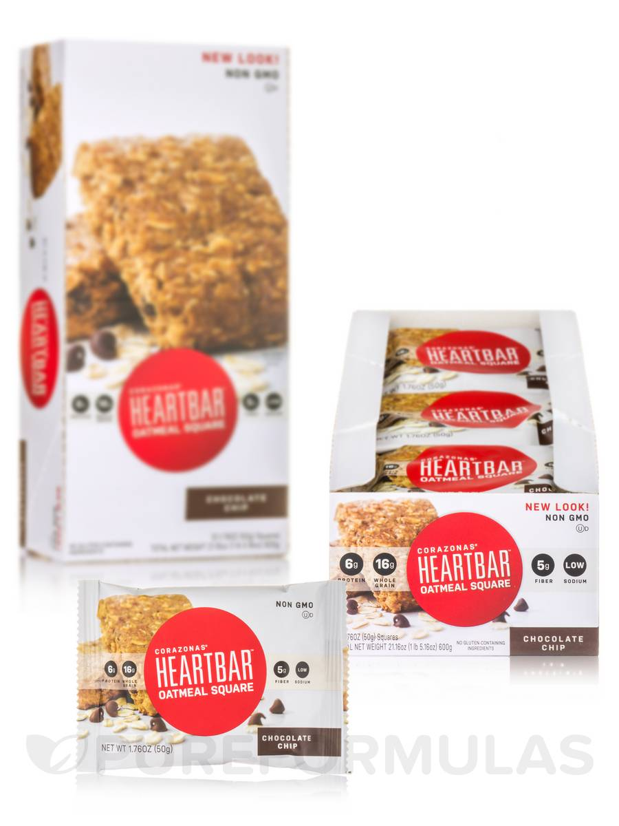 Oatmeal Squares Chocolate Chip - Box of 12 Oatmeal Squares (1.76 oz each)