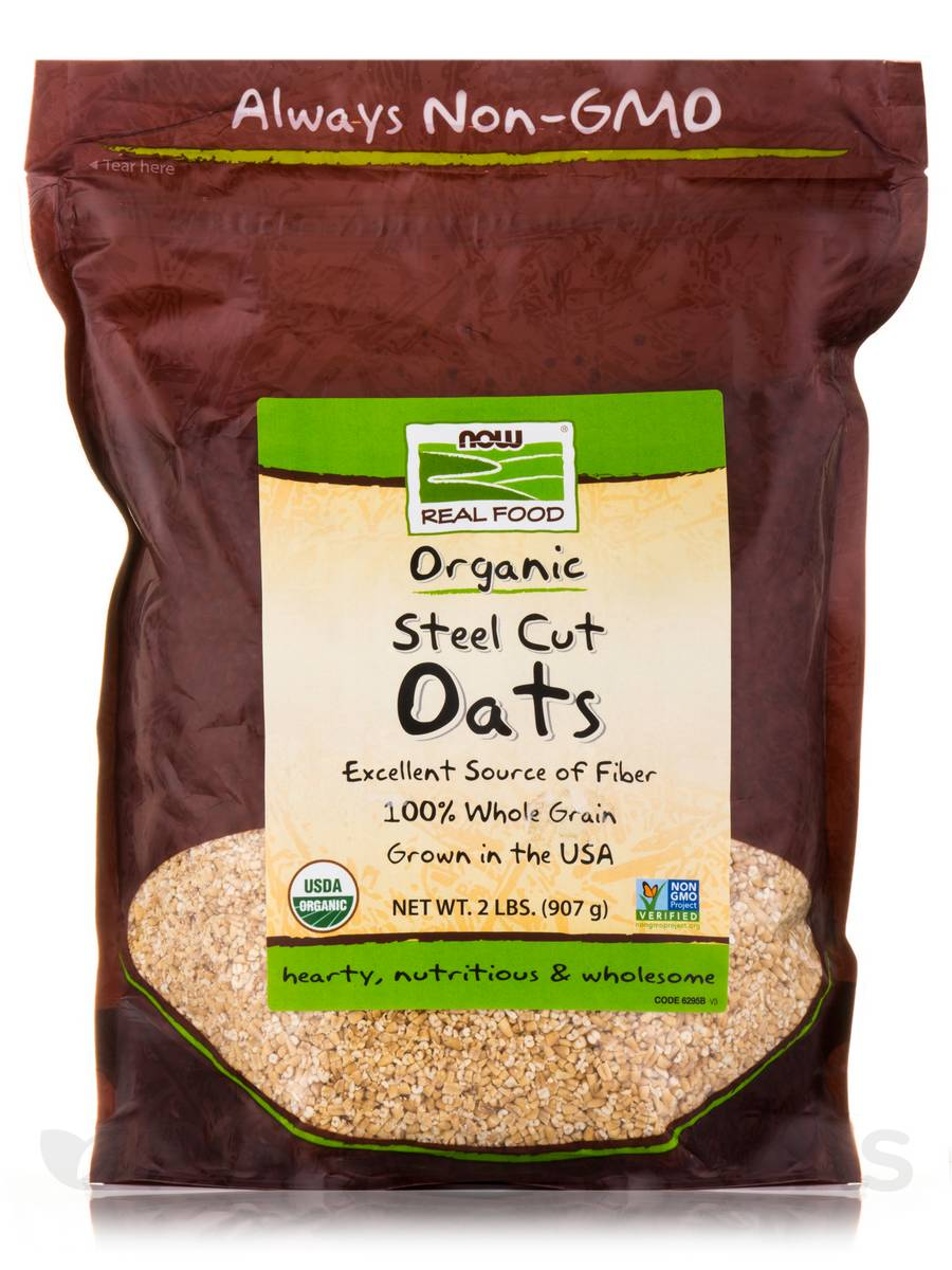NOW® Real Food - Oats (Steel Cut) - 2 lbs (907 Grams)