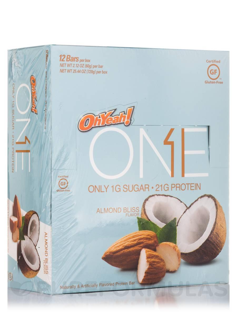 Oh Yeah! One Bar Almond Bliss - Box of 12 Bars (2.12 oz / 60 Grams each)