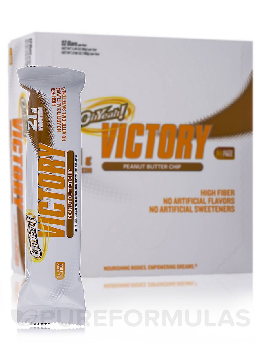 Oh Yeah! Victory Bar Peanut Butter Chip - Box of 12 Bars