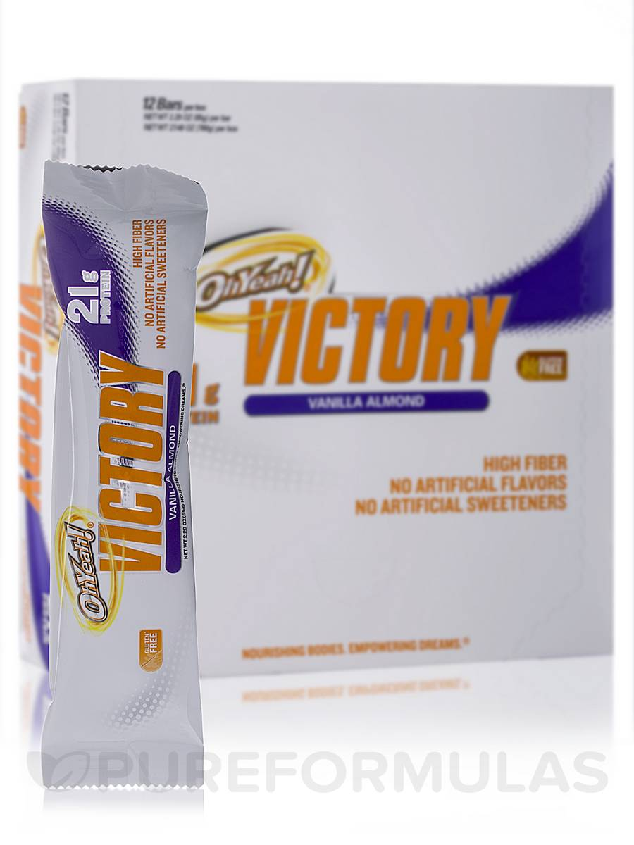 Oh Yeah! Victory Bar Vanilla Almond - Box of 12 Bars