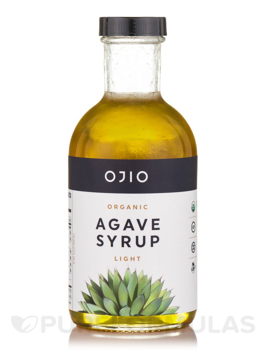 Ojio Organic Agave Syrup, Light - 16.6 oz (500 ml)