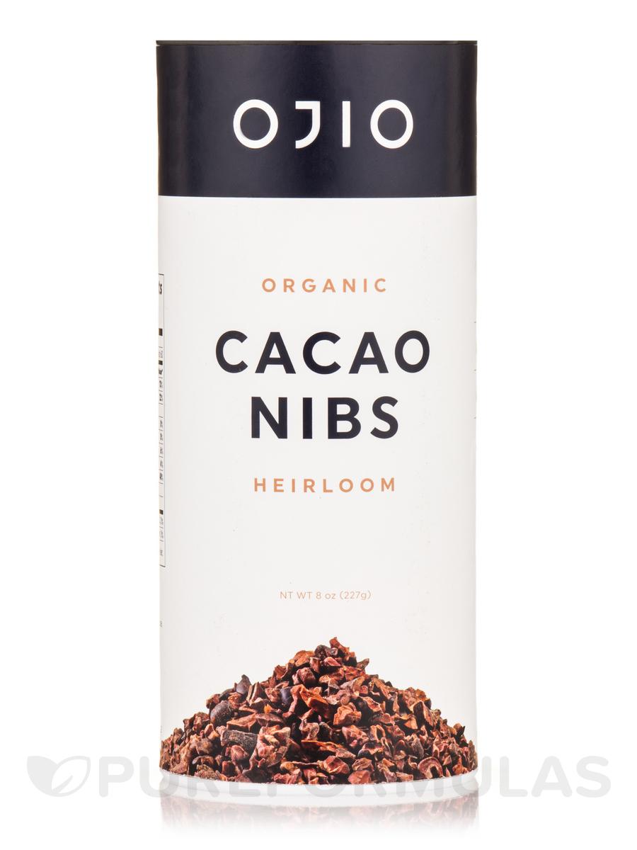 Ojio Cacao Nibs, Raw, 100% Organic Arriba - 8 oz (227 Grams)