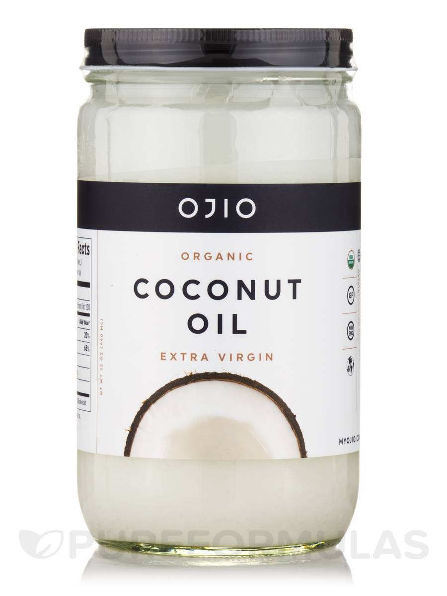 Ojio Coconut Oil - Extra Virgin, Raw, 100% Organic - 32 oz (940 ml)