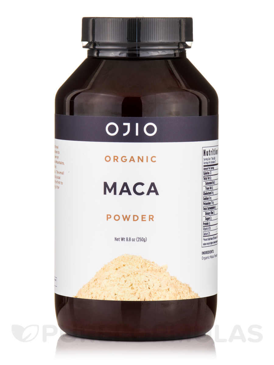 Ojio Maca Powder, Raw, Organic - 8 oz (227 Grams)
