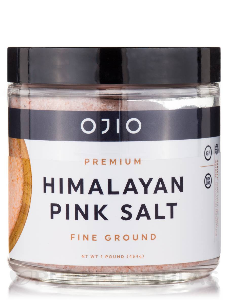 Ojio - Premium Himalayan Pink Salt, Fine Ground - 1 lb (454 Grams)