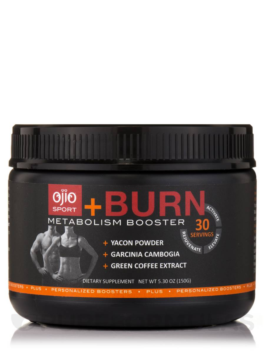 Ojio Sport +Burn Metabolism Booster - 30 Servings (5.3oz / 150 Grams)