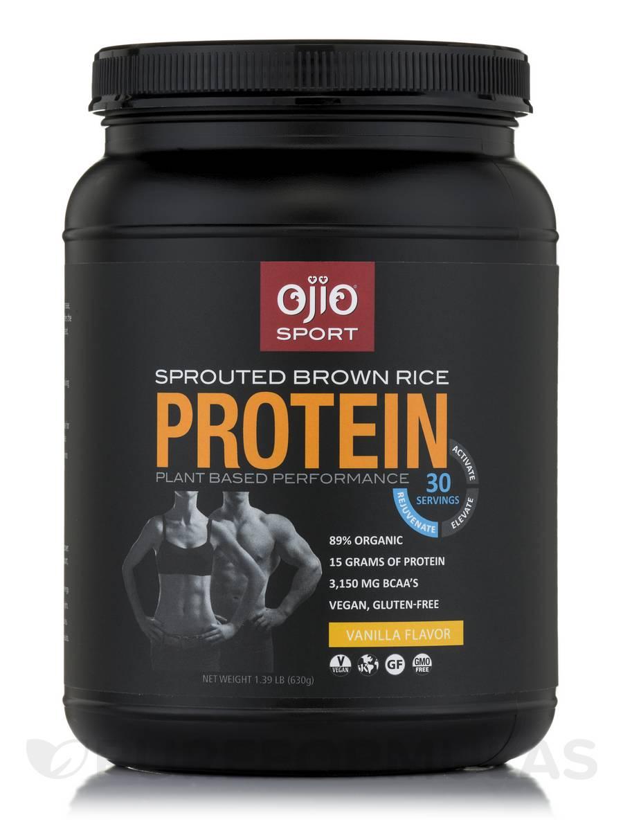 Ojio Sport Sprouted Brown Rice Protein Vanilla Flavor - 30 Servings (630 Grams)
